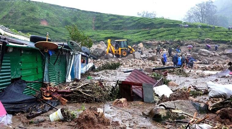 Idukki landslide, Kerala landslide, Munnar landslide, Idukki landslide news, Kerala tea plantations, Munnar death toll, Kerala, Indian Express