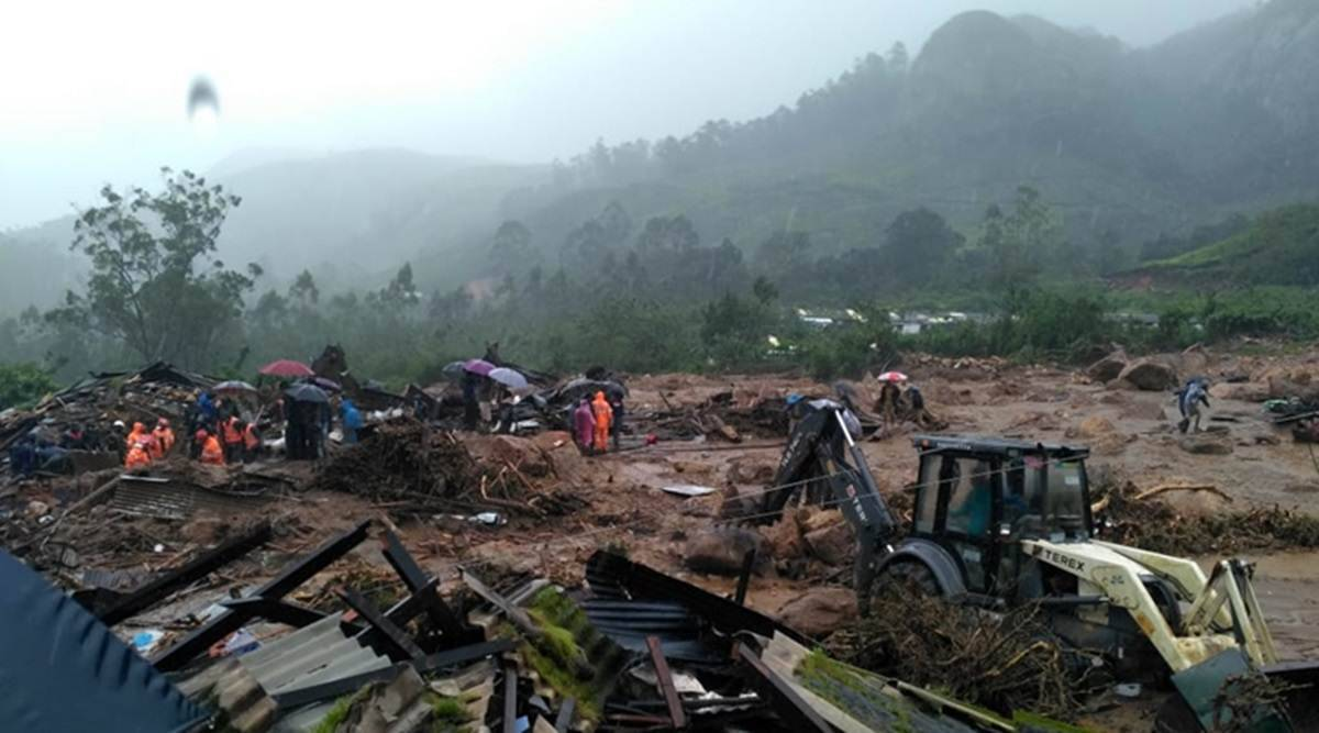 Cloudburst could have set off deadly landslide in Kerala, says official