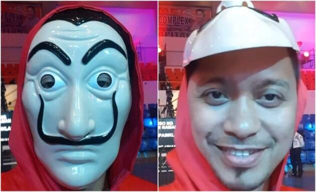 Jhong Hilario money heist fan