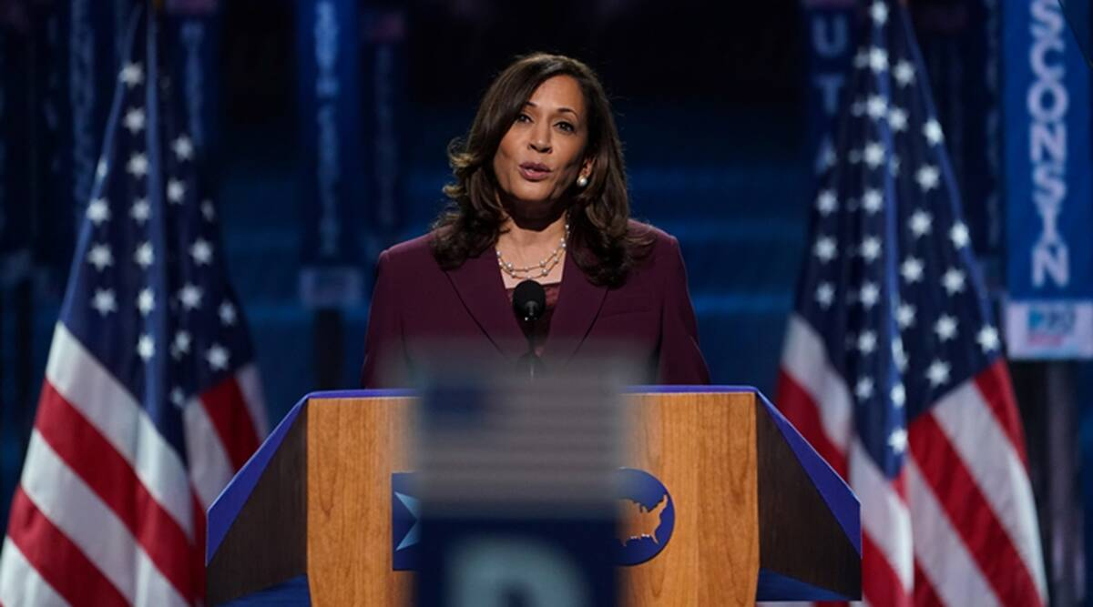 Hindu Groups Seek Apology From Kamala Harris Niece For Sharing Image Depicting Aunt As Durga World News The Indian Express