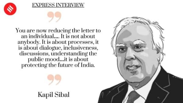 kapil sibal, kapil sibal congress, congress letter, congress leadership, rahul gandhi, sonia gandhi, indian express news