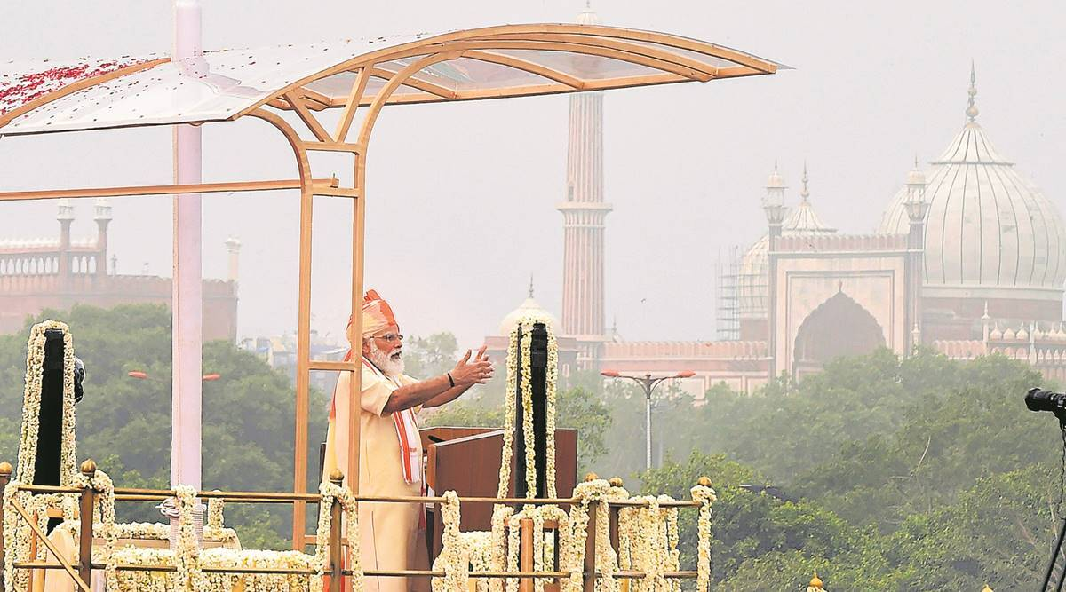 Narendra Modi, health ID, self-reliance lesson, Independence Day address, Indian express news