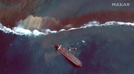 india extends help to mauritius, Mauritius oil spill, Mauritius oil spill cause, Mauritius oil spill clean up, Mauritius news, Mauritius national emergency, Indian Express
