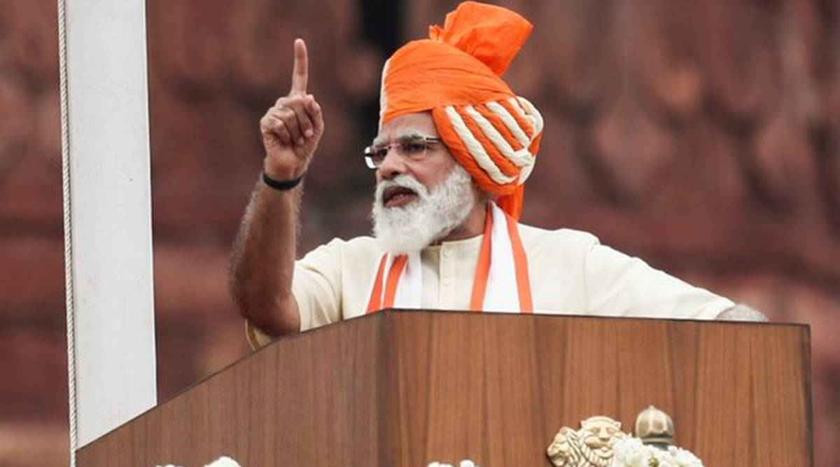 Narendra Modi, Independence Day speech, I-day turban, Surat news, Indian express news