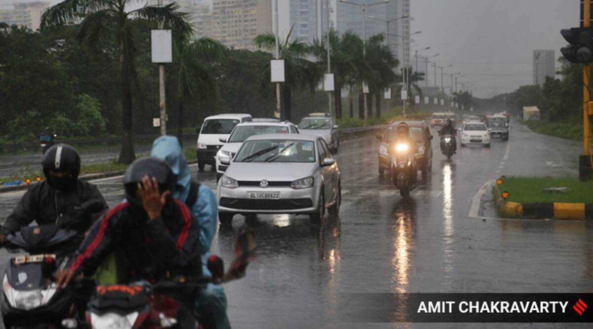 Mumbai rains, Mumbai weather, Mumbai weather today, maharashtra monsoon, IMD, mumbai weather news, mumbai news, indian express