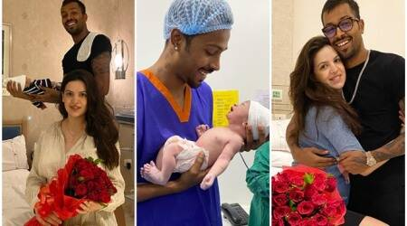 Natasa Stankovic, Hardik Pandya son photos