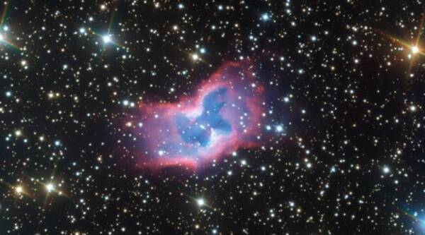 Star, Butterfly star,Butterfly shape nebula, Butterfly shape star, Butterfly shape in space, Butterfly in space, Very Large Telescope, ESO, NGC 2899, European Southern Observatory, Viral news, Space news, astronomy news, Indian Express news