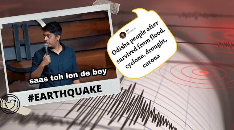 earthquake, earthquake today, odisha earthquake, indian earthquake 2020, earthquake memes, viral news, indian express