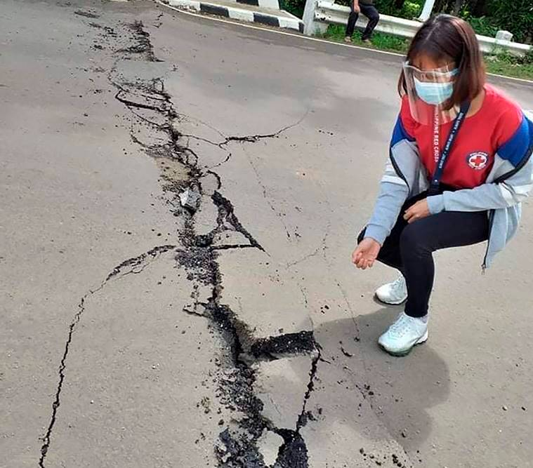 Philippines earthquake, Strong earthquake jolts Philippines, Philippines quake magnitude, Philippines earhquake damage, World news, Latest news, indian express