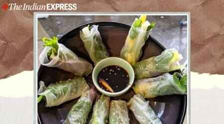 rice paper roll recipe, weekend recipes, easy recipes, anahita dhondy recipes, indianexpress.com, indianexpress,