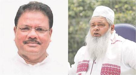 Badruddin Ajmal, AIUDF, BJP, Assam Congress, Assam Pradesh Congress Committee, Assam CAA, Assam NRC, Asom Jatiya Parishad, Raijor Dal, assam news, indian news, indian express