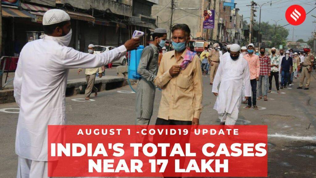 Coronavirus on August 1, India's total Covid-19 cases near 17 lakh