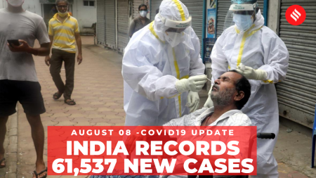 Coronavirus on August 8: 61,537 new Covid-19 cases recorded in India