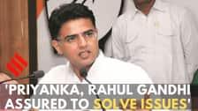 Priyanka, Rahul Gandhi assured road map to solve issues: Sachin Pilot