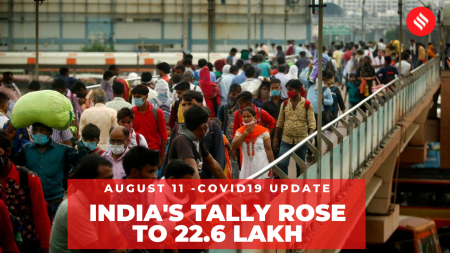 Coronavirus on August 11, India's Covid-19 tally rose to 22.6 Lakh
