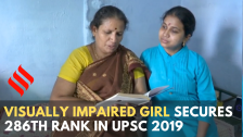 Visually impaired girl from Madurai secures 286th rank in UPSC 2019