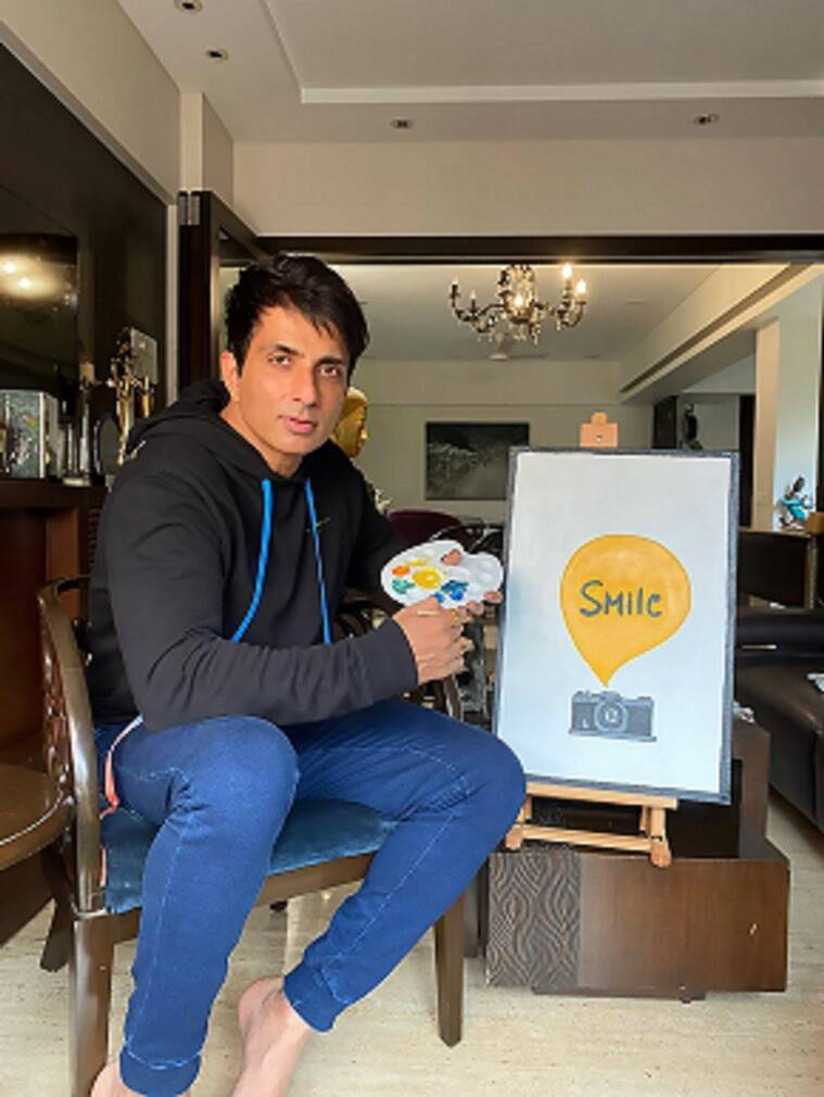 Artworks, fundraiser, indianexpress.com, indianexpress, artwork for heartwork campaign, sonu sood, auction,