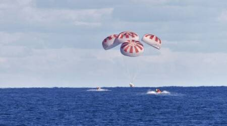 NASA, SpaceX, Splashdown, Crew dragon, Trending news, Gulf of Mexico, Indian Express news