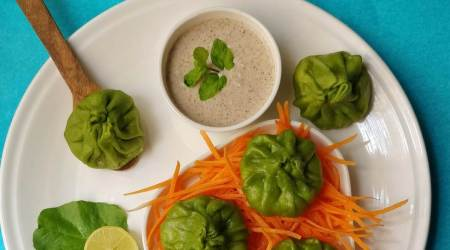 sorghum millet with spinach momos, millet recipes, easy recipes, healthy eating, shalini rajani indian express, indian express news