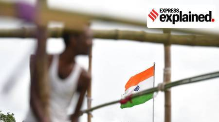 History of indian national flag, who designed indian national flag, indian national flag history, tricolour history, where was tricolour first hoisted, tiranga, independence day, independence day red fort, independence day PM MODI, independence day nehru flag hoisting, express explained, indian express