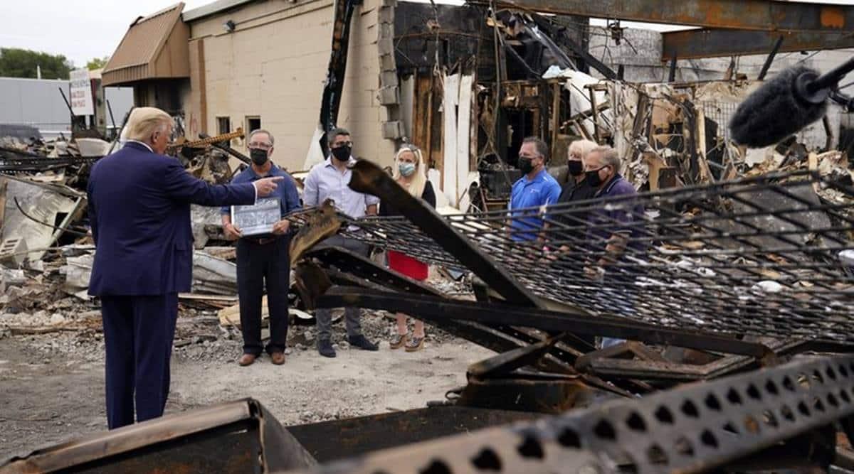 Trump visits Kenosha, calls violence 'domestic terrorism'