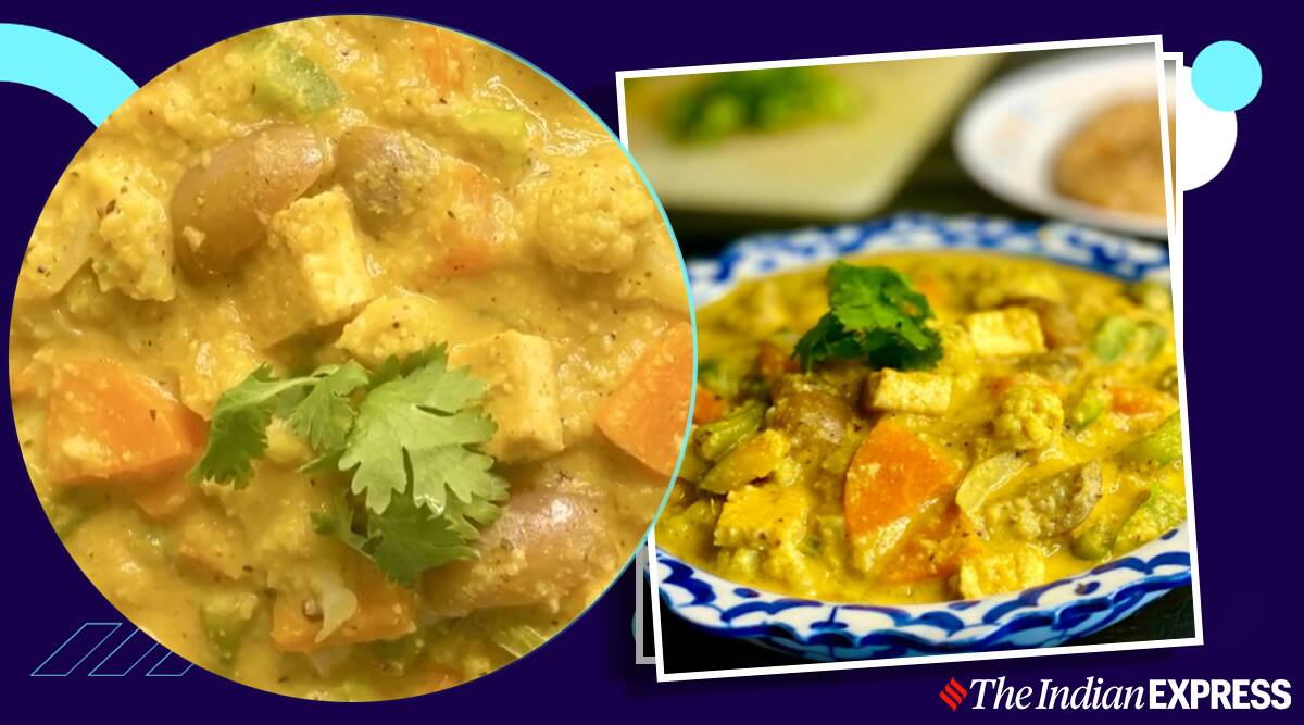 veg korma, easy lunch recipes, easy recipe, how to make korma, north indian korma, indianexpress.com, indianexpress, meghnasfoodmagic,