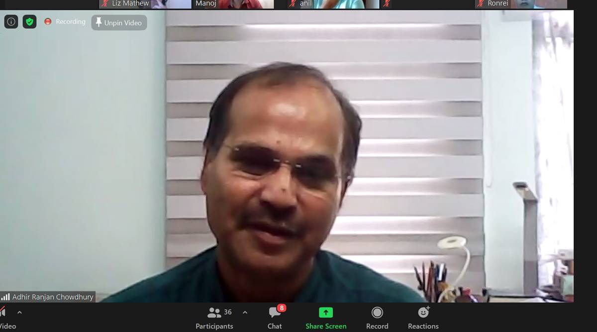 Adhir Ranjan Chowdhury, Adhir Ranjan Chowdhury Idea Exchange, Idea Exchange Adhir Ranjan Chowdhury, Adhir Ranjan Chowdhury on Congress letter, Congress crisis, Congress leaders letter to Sonia Gandhi, India news, Indian Express