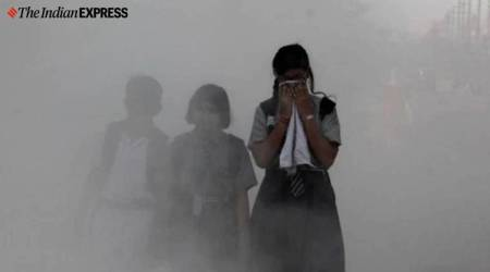 pollution on children, pollution impact on children, sir pollution, inhaling pollutants, indian express