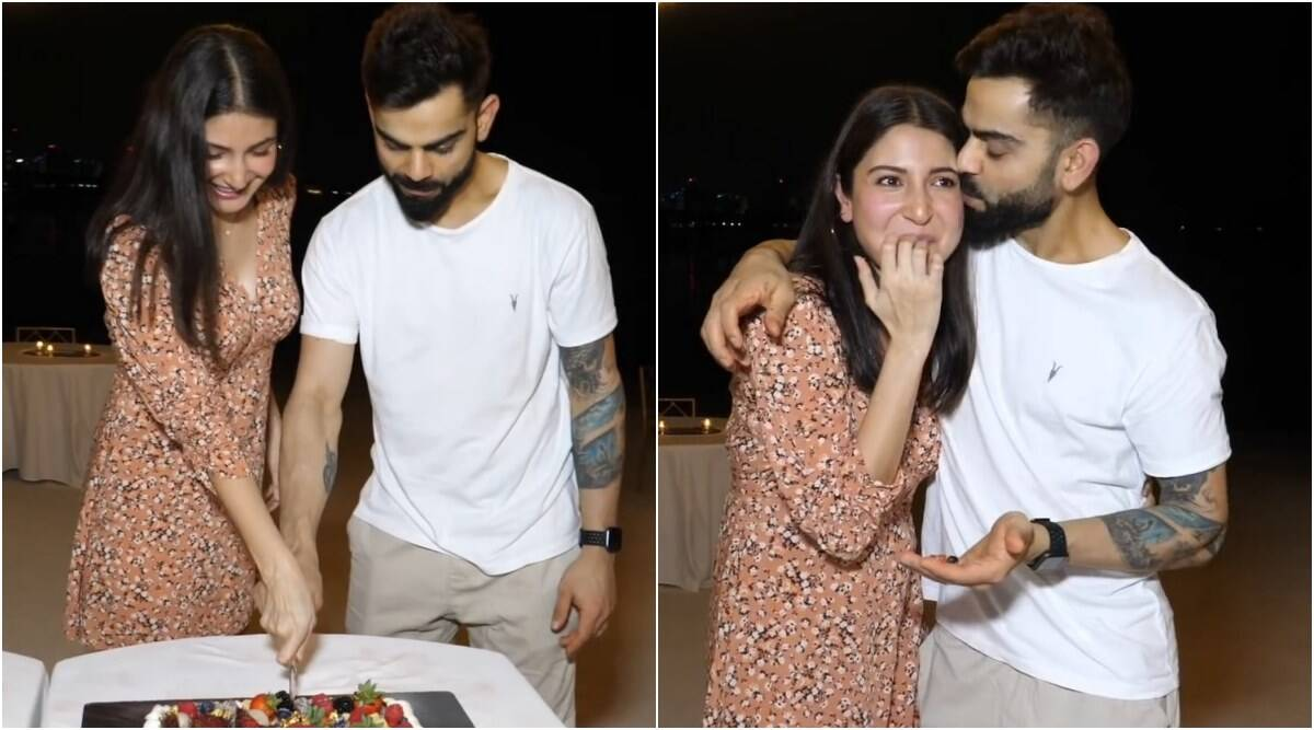 Virat, Anushka celebrate pregnancy news with RCB team, watch video - The Indian Express