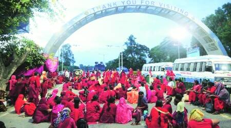Asha workers take out march, call off protest after CM's PA speaks to them