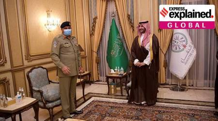 Qamar Javed Bajwa, Qamar Javed Bajwa in Saudi Arabia, Bajwa denied meeting with MBS, Pakistan Saudi Arabia ties, Saudi Arabia on Kashmir, OIC on Kashmir, india Saudi Arabia ties, express explained, indian express