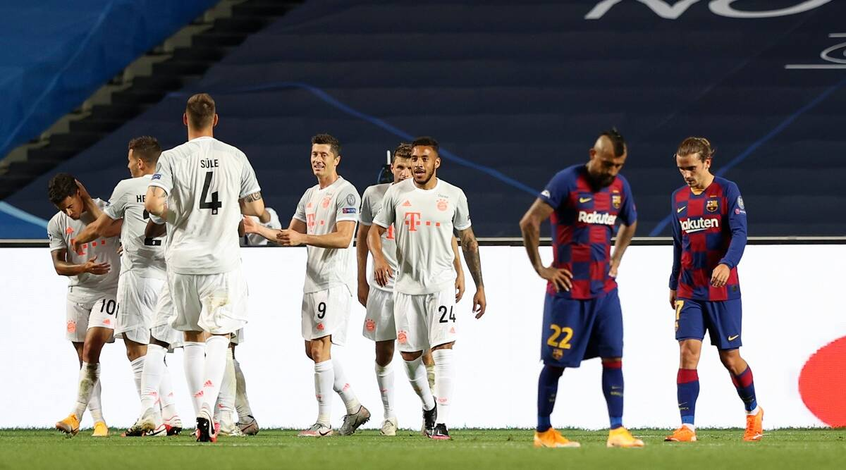 Bayern Munich Blitz Barcelona 8 2 To Reach Uefa Champions League Semis Sports News The Indian Express