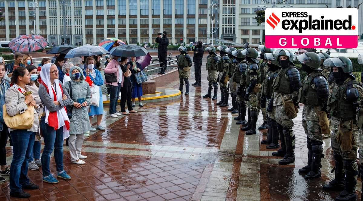 Explained: Belarus crackdown on journalists amid massive anti-government protests - The Indian Express