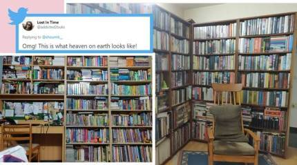 'Can I be your roomie?', ask netizens after pics of man 'living in library' go viral