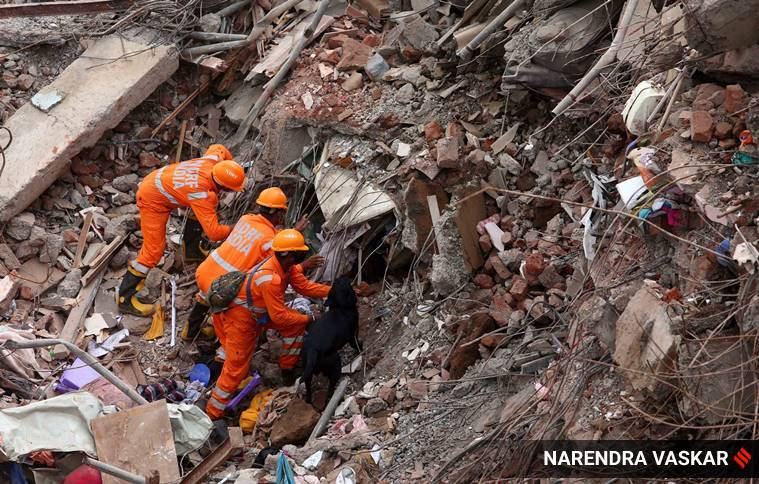 Mahad Building collapse: Stacked tower of debris slowed rescue efforts