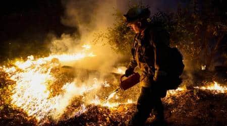 california, california wildfire, wildfires in california, heatwave, world news, indian express news