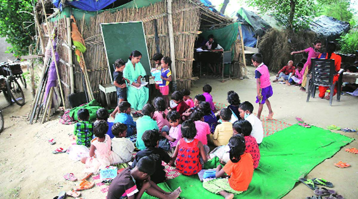 Amid pandemic, informal 'schools' under flyover help kids keep up with learning