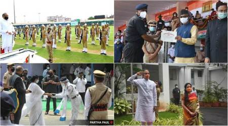 Independence Day celebrations, 74th Independence Day, maharashtra Independence Day celebrations, j&k Independence Day celebrations, mamata banerjee, ashok gehlot, indian express news