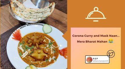 Jodhpur restaurant's special Covid Curry and Mask Naan have left people intrigued
