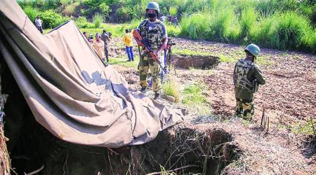 cross-border tunnel, BSF personnel, Samba district, Kashmir news, Indian express news