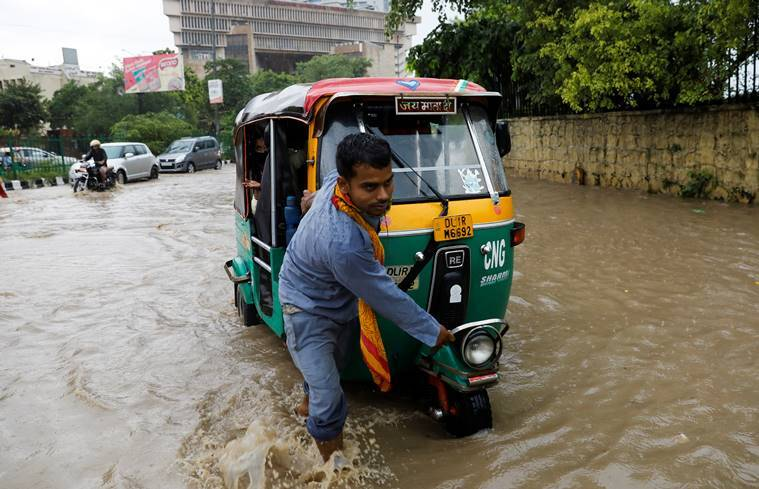 Delhi Weather update: Heavy rain lashes Delhi NCR, disrupting traffic in many areas