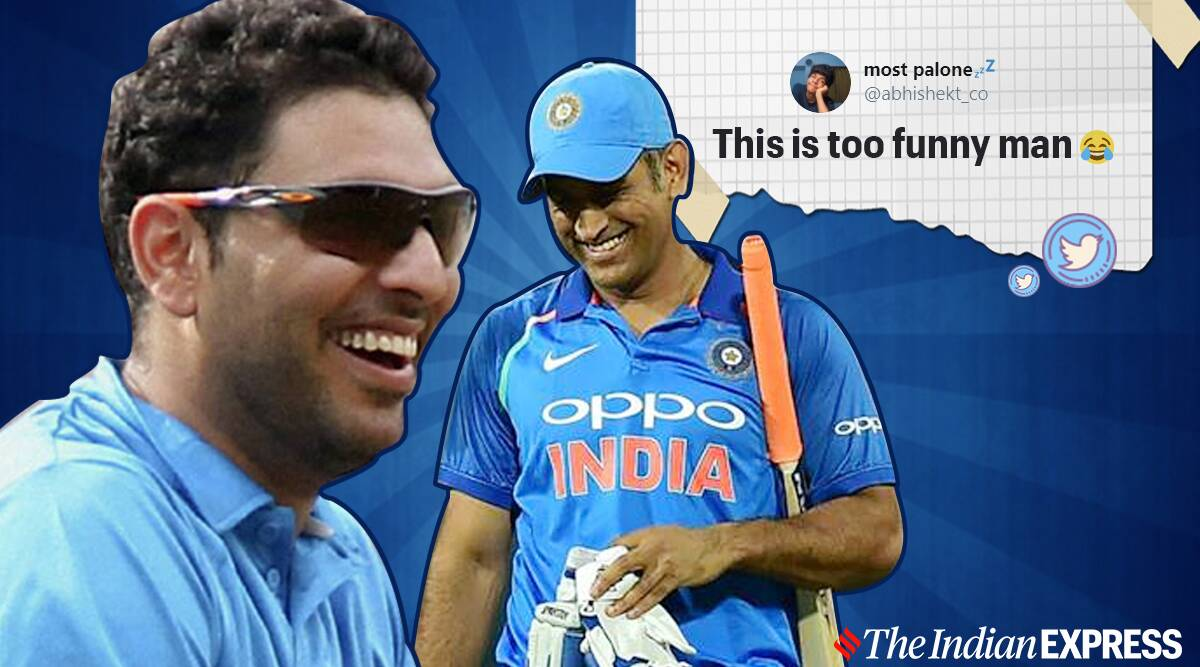 Ms dhoni retirement, news channel calls wrong yuvraj singh, Dhoni retirement reactions, trending, indian express, indian express news