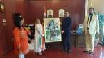 independence day, 74 independence day, teacher create gandhi portrait using buttons, dubai teacher gandhi button portrait, indians in dubai, viral news, indian express