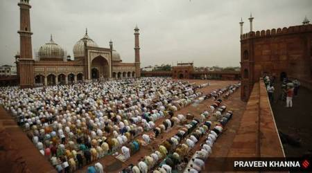 eid, eid al adha, eid india, eid 2020, eid celebration delhi, jama masjid, eid in india, indian express news