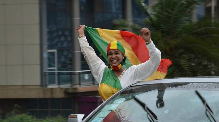 Ethiopians celebrate progress in building dam on Nile River