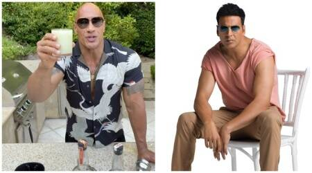 the rock and akshay kumar