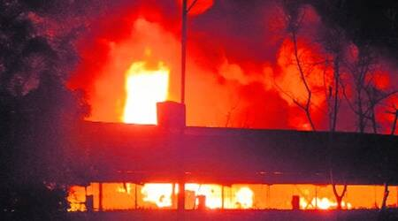 Kandla Special Economic Zone, Fire in godown in kutch, kutch godown firem kutch garment godown fire, indian express news