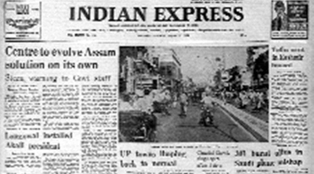 Forty years ago, forty years ago Indian Express, forty years ago this day, this day forty years ago, Express Editorial, Indian Express