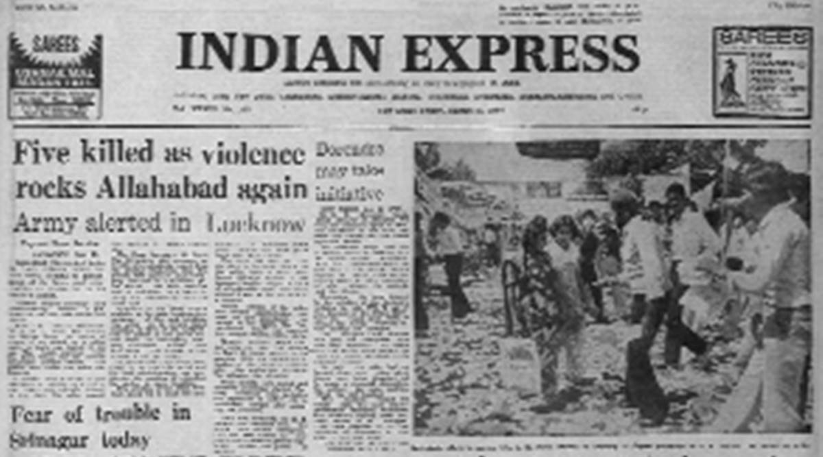 UP protests, UP violence, Allahabad protests, Allahabad violence, Forty years ago, Express Editorial, Indian Express