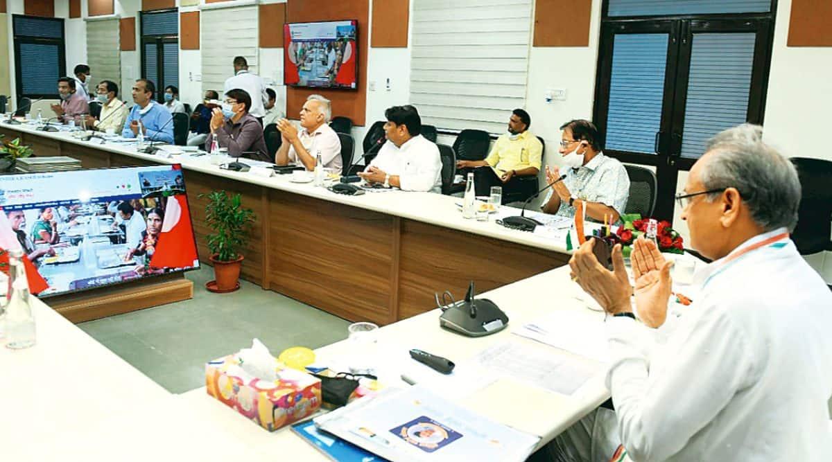 rajasthan news, rajasthan cm ashok gehlot, Ashok Gehlot launches Indira Rasoi Yojana, Annapurna Rasoi Yojana, former pm indira gandhi, indian express